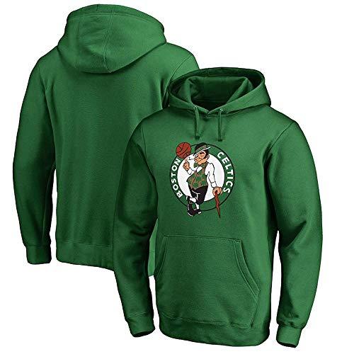 Hoodie Kapuzenpullover Boston Celtics Basketball Student Sports Langärmliger, Lockerer Kapuzenpullover Green-M -