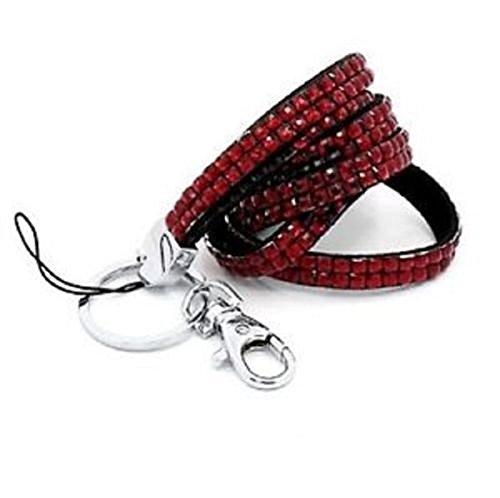 strass-collo-cordino-id-card-badge-holder-red