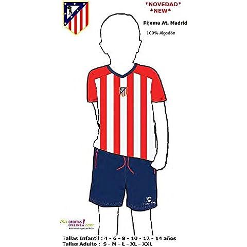 Pijama Adulto Atletico Madrid 2016 M/C