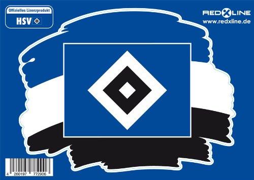 2 in 1 DUFT STICKER AUFKLEBER HAMBURGER SV HSV NEU