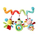 #8: TOYMYTOY Baby Pram Activity Hanging Toys Newborn Wrap Around Crib Rail Spiral Toy Educational Toys for Baby Newborn Infant