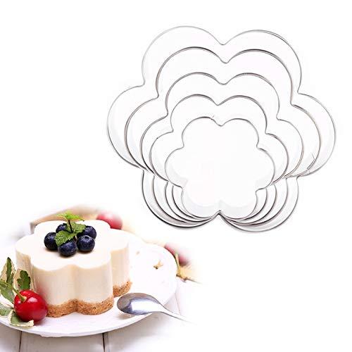 PlenTree 1 Satz Edelstahl Brautkleid Blumen-Form-Biskuit-Form Ausstechformen...