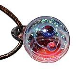 Abilieauty Piccoli Universo Collana Cristallo Galassia Sfera di Vetro Collana con Ciondolo Gioielli Regalo - Terra