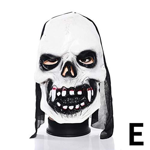 Xiaodu Halloween Maske Latex Mann Spuk Haus Verkleiden Prom Room Escapes Horror Zombie Maske 6,E