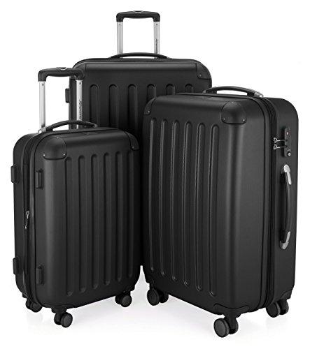 Hauptstadtkoffer - 3er Set Hartschale Koffer Trolley Serie Spree schwarz matt + 20,- Reisegutschein