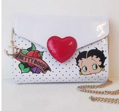 Betty Boop Heartbreaker Patent Clutch Unterarm Tasche Top Qualität Offiziell Lizensiert (Patent-symbol)