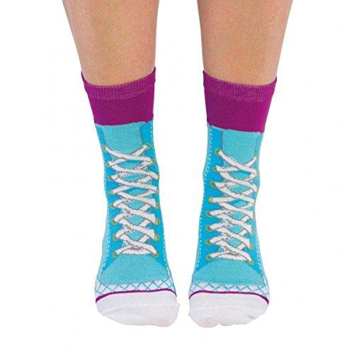 Turnschuhe Socken für Frauen in blau im Paar - Strumpf