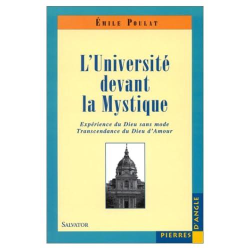 L'Université devant la mystique