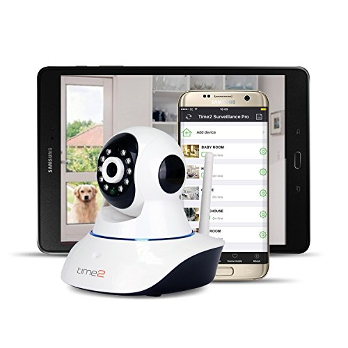 [UpdatedVersion] IP Camera, mobile Pan/Tilt 720P Surveillance Camera - Motion & stereo audio Detection - HD Recording, remote control view, Day&Night Indoor household Security, 2Way Audio, WiFi setup, Plug&Play UK