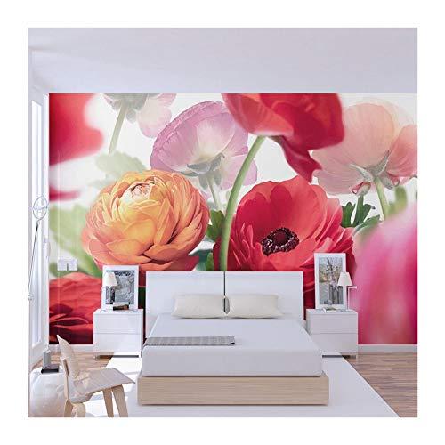 Yuanlingwei 3d design moderno fiori colorati carta da parati murales soggiorno balcone decorazione sfondo