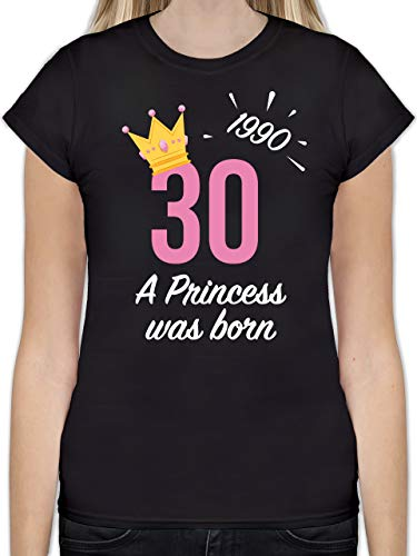 Geburtstag - 30. Geburtstag Mädchen Princess 1990 - M - Schwarz - L191 - Tailliertes Tshirt für Damen und Frauen T-Shirt