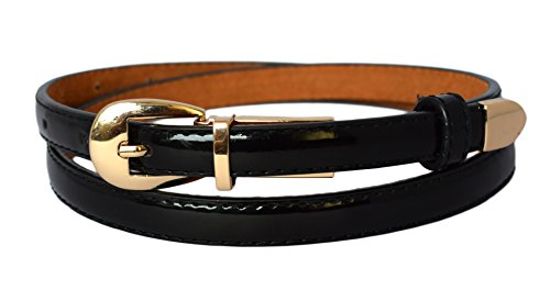 ladies-women-fashion-skinny-thin-pu-leather-waist-belt-black