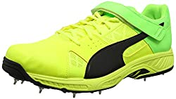 Puma Mens Evospeed Cricket B Safety Yellow, Black and Green Gecko Cricket Shoes - 8 UK/India (42 EU)