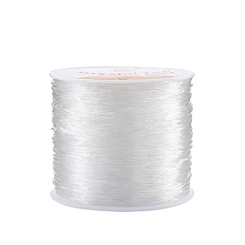 Joyería Cordón 0.8mm Hilo Abalorios Transparente