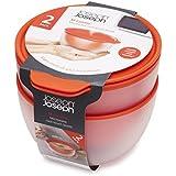 Joseph Joseph M-Cuisine Cuencos para microondas frescos al tacto (2 unidades), color naranja