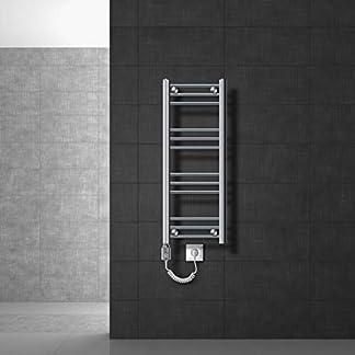 ECD Germany Radiador toallero eléctrico – Diseño Plano – 300 x 800 mm – 600W – Diferentes tamaños y modelos – Radiadores para baños