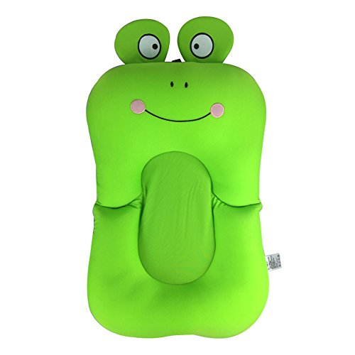 Baby Badewanne Kissen Pad faltbar rutschfeste Süßes Frosch Liege Air Kissen Floating Badende Badewanne Pad weich Baden Kissen Kleinkind Badewanne Sicherheit Sitz Pad -