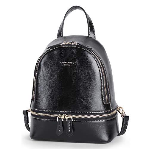 CXQ Mode Leder Mini Rucksack Stereotypen Kleinen Rucksack Damen schwarz vielseitige Rucksack Reiserucksack