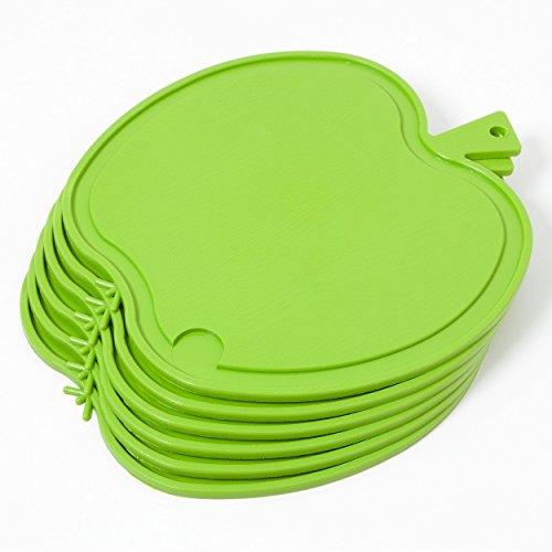 Bable Frühstücksbrettchen 6-er Pack Küchenbrettchen Apfel (Grün)