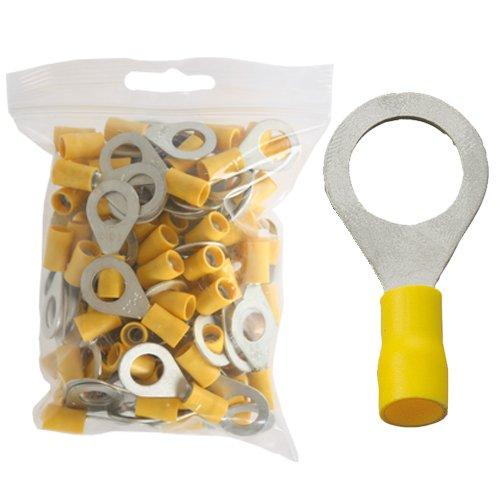 100 isol. Ringkabelschuhe gelb M10 4,0 bis 6,0 mm²
