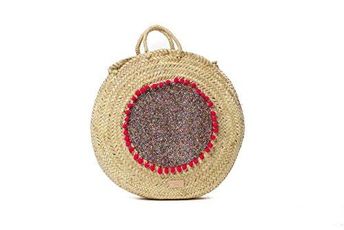 Ansa per Ansa Menorca Damen Africa Multi R Geldbeutel, Verschiedene Farben (Mehrfarbig), 10x40x40 cm (Handtasche Geldbeutel, Multi Farbe)