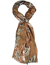 Vozaf Women's Viscose Shawls (Vz- Bg18_Brown)