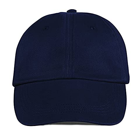 Anvil Contrast Low Profile Twill Cap Six Panel Unconstructed Sweatband (Navy)