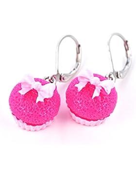 """süße Ohrhänger """"Pink Cupcake"""" vo"""