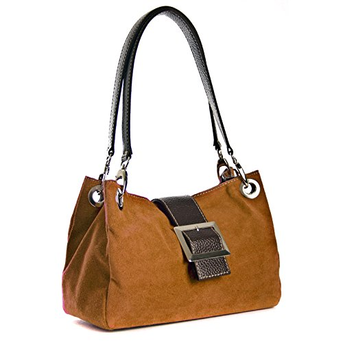 Aossta, Borsa a mano donna Marrone Brown Small Brown
