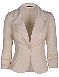 BYD Mujeres Blazers Negocio Abrigo Delgado OL Chaqueta de Traje y Blazers  para mujer Una Hebilla 752dc5cd7b51