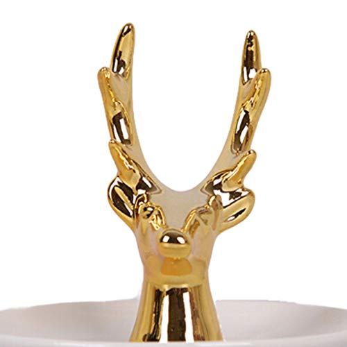Chunyang Tier Schmuck Fach Keramik-Teller-Halter Porzellan Ring Rack-Display-Speicher-Fall-Hauptdekoration Display Tray Fall