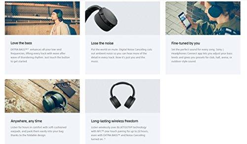 Sony MDR-XB950N1 kabelloser Kopfhörer mit Geräuschminimierung (Noise Cancelling, Extrabass, NFC, Bluetooth, faltbar) schwarz - 4
