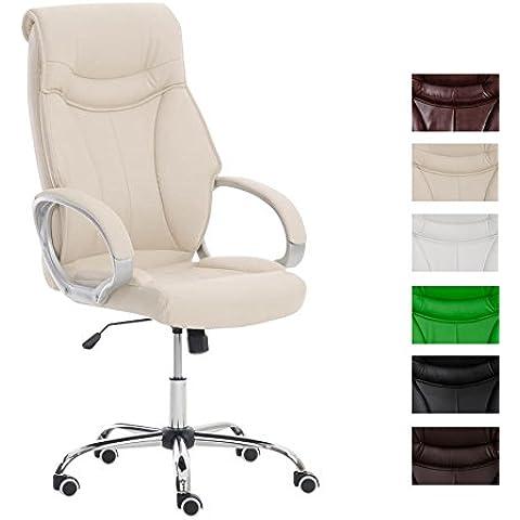 CLP Silla de oficina TORRO, soporte en hierro estable, peso máx. 150 kg, altura del asiento: 38 - 48 cm, bloqueo de dirección