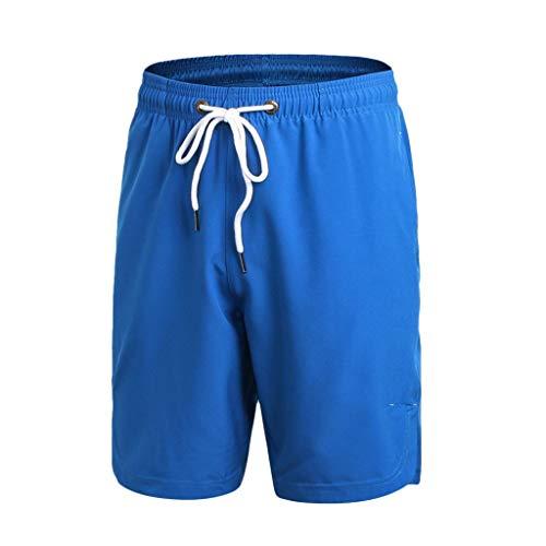 Shorts/Skxinn Herren Badehose Freizeit Short Einfarbig Kurze Hose Schnelltrocknend Badeshorts Surfshorts Casual Strand-Shorts Lose Sport Slim Urlaub Pants S-XXL (Blau,XX-Large)