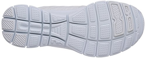 Skechers Flex AppealPure Tone, Sneakers basses femme Blanc (Wht Blanc)