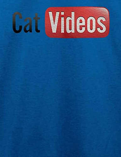 Cat Videos T-Shirt Royal Blau