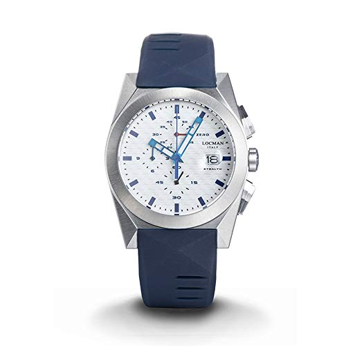 Men's Chronograph Stealth Steel and Titanium Blue Locman