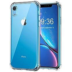 MATONE Funda iPhone XR (6.1 Pulgadas), Carcasa Protectora Delgada y Transparente con Refuerzo en Las Esquinas Parachoques y Resistente a Arañazos, Fundas de TPU Flexible para iPhone XR