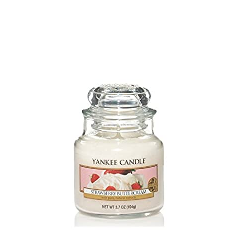 Yankee Candle Small Jar Candle, Strawberry Buttercream