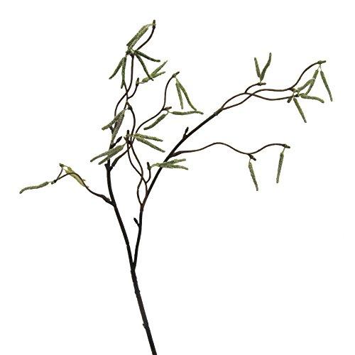 Künstlicher BIRKENZWEIG ca 53 cm. Birke -Zweig mit Birken-Kätzchen.