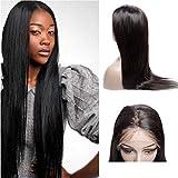 VIPbeauty 100% non transformés raide straight Perruque lace frontale 130% Densite Remy cheveux Bresilien naturel couleur naturel pour femme.