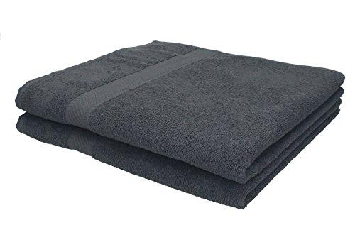 Betz set di 2 asciugamani da bagno 70 x 140 cm asciugamano da doccia telo da bagno palermo 100% cotone, colore grigio antracite
