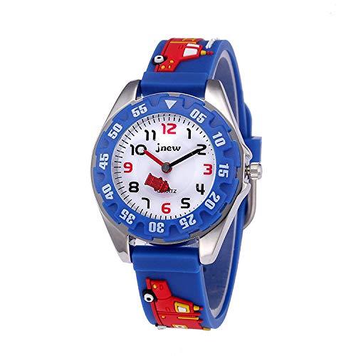 Kinder Analog Uhren für Jungen Mädchen, Kinder Sport Wasserdicht 3D Cute Cartoon Spielzeug Uhr Kinderuhr, Armbanduhr Jungen Mädchen Teaching Handgelenk Uhren Kleinkinder Geschenk