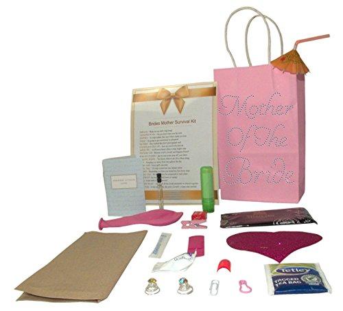 Hochzeits-Überlebensset für die Brautmutter, perfektes Geschenk für Hochzeittag + Geschenktüte mit Strass