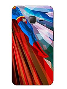 Make My Print Superman Printed Colorful Hard Back Cover For Samsung Z1