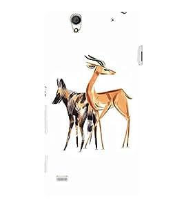 EPICCASE Deer dog Mobile Back Case Cover For Sony Xperia C4 (Designer Case)