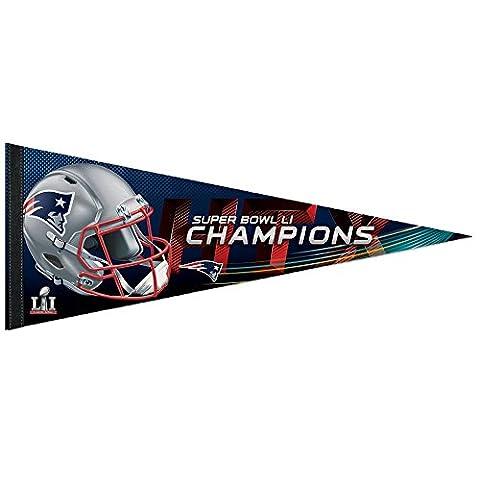 WinCraft NFL NEW ENGLAND PATRIOTS Super Bowl 2017 Champions Premium Pennant