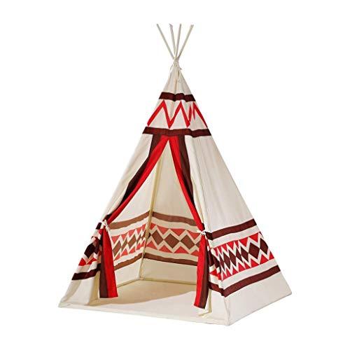 ABB Tente de tipi for Enfants Maison de Jeu for Enfants Tipi avec Tapis de Sol et fenêtre, Toile de Coton à Usage intérieur/extérieur