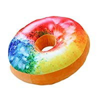 AchidistviQ Plush Soft Toy, 3D Plush Donut Food Stuffed Pillow Sofa Chair Back Car Cushions Mat 3#