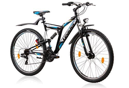 tretwerk DIREKT gute Räder ATB Leader Atlanta Street 28 Zoll Schwarz/Blau, Jugend-Fahrrad, Herren-Fahrrad, M -